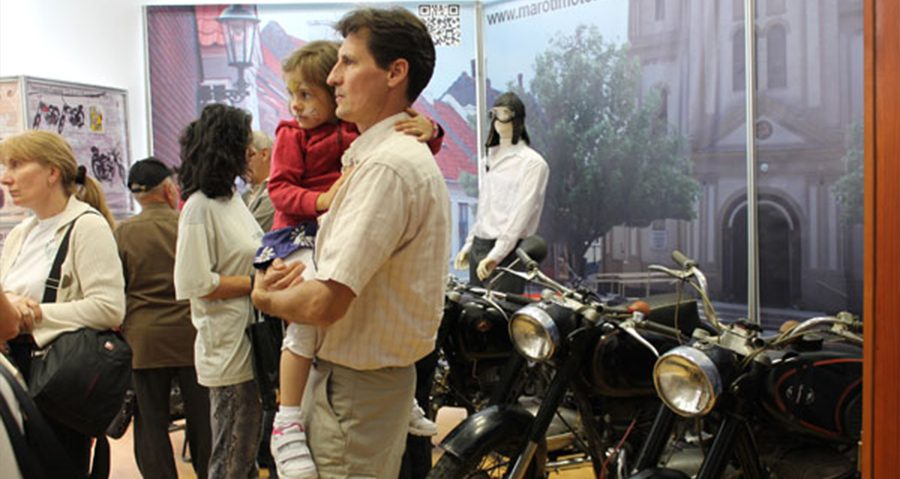 Motorcycles in the Night of Museums